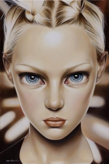 Oil Paintings by Sas Christian | Best Bookmarks #face #painting #oil