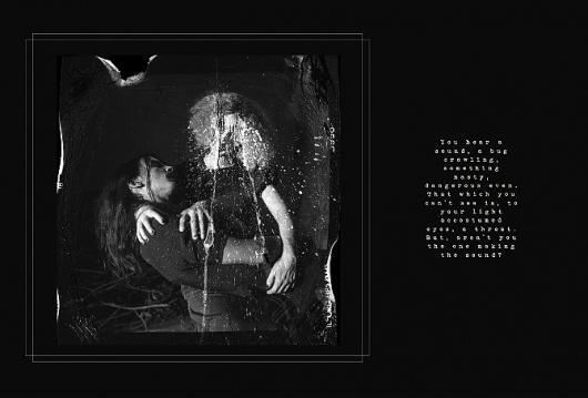 The Unknown Shadow. - Voyeur #ink #trash #books #photography #film #intervention #dark #editorial #mujercitas