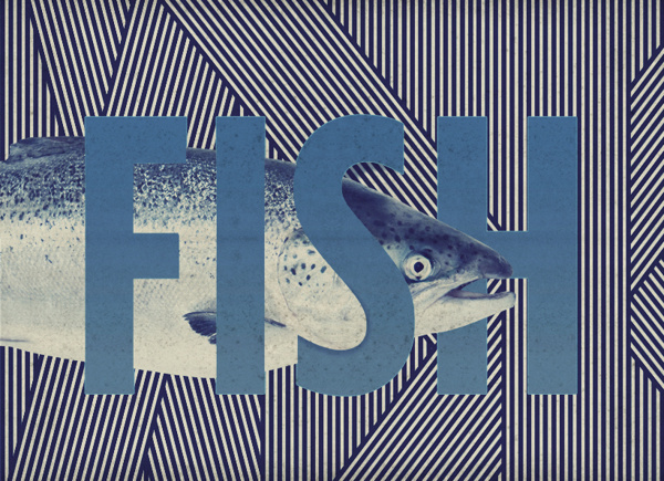 BRAINFISHWARLIMEROSE on the Behance Network #fish #graphic