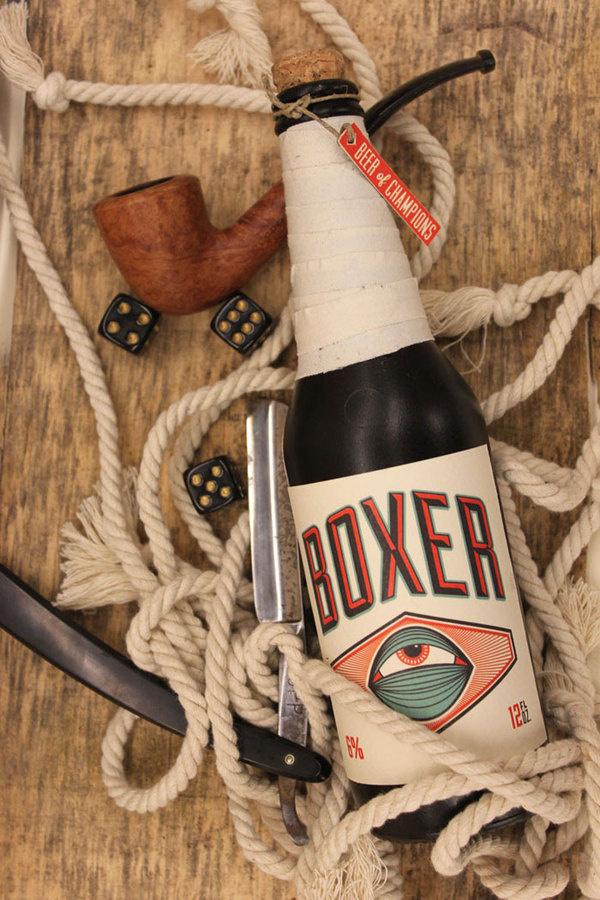 Boxer beer #beer #lettering #boxer #eyeball