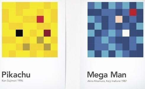 Designer Breaks Down, Mixes Videogame Characters Into 'Scrambled Pixels' - DesignTAXI.com #pixel #videogame #poster