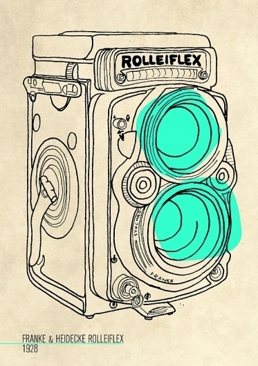 A HISTORY OF - LUCY KELLY #camera #illustration #vintage #pen