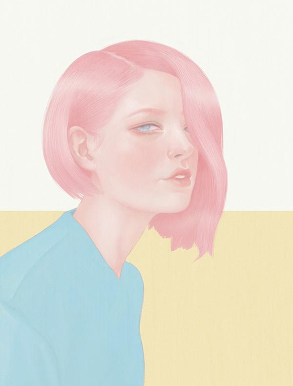 Fashion Illustration - Hsiao Ron Cheng #woman #girl #design #hair #illustration #portrait #art #painting #pastel