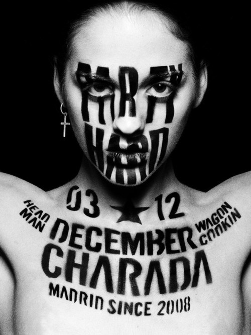 Typeverything.com - Yohei Oki for Charada Club 3rd... - Typeverything #photo #painting #poster #typography