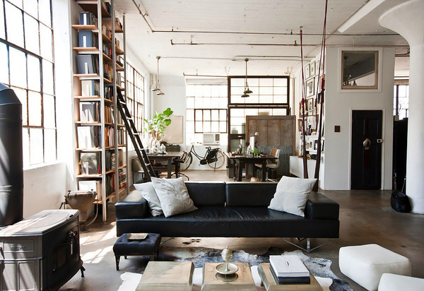 CJWHO ™ (Loft in Brooklyn by Alina Preciado by Dan Gitane ...) #loft #design #interiors #luxury #architecture #york #brooklyn #new