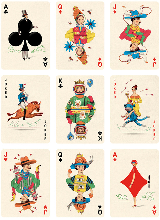 Deck of Playing Cards Illustration by Jonathan Burton #cards #naipe