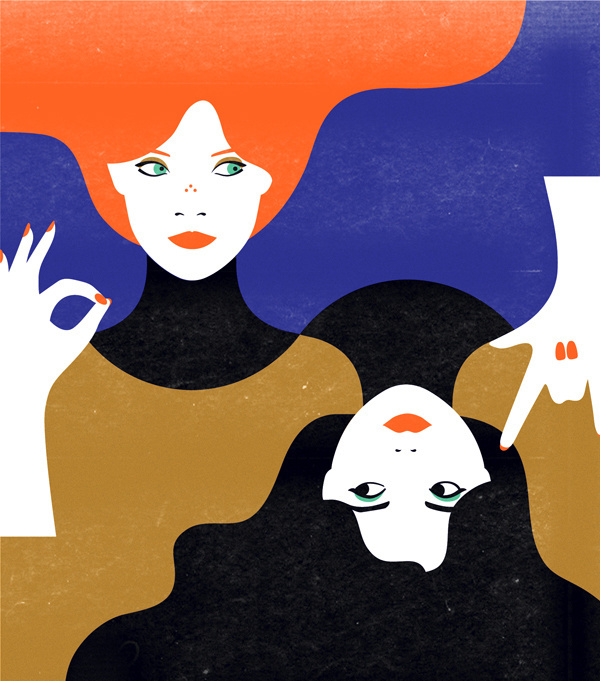 New Yorker Malika Favre #yorker #illustration #double #new