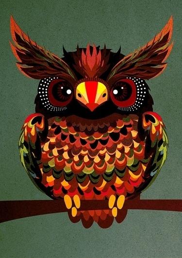 Galleria - Pingstate nro. 3 #illustration #owl