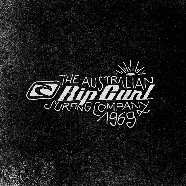 RIPCURL (textile design) 2000 / 2005 on the Behance Network #logotype #drawn #logo #hand #typography