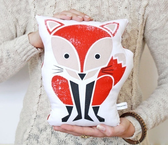 Forest Animal Print Pillows Uncovet #pillow #print #fox