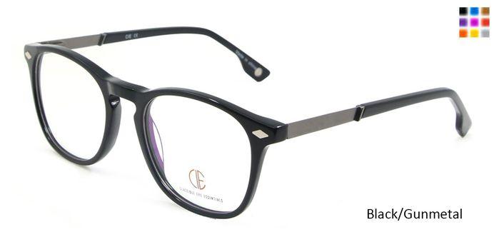 Black/Gun CIE SEC110 Eyeglasses.