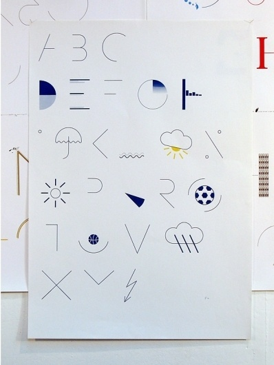 Felix Weigand - Alphabet (News), Typeface and poster, 2006 #typeface #custom