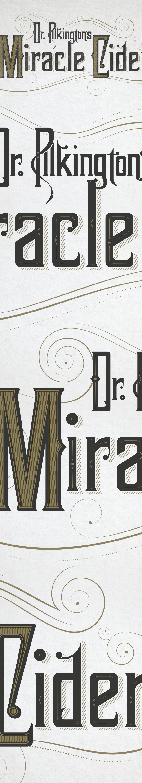 Dr Pilkington's Miracle Cider on Behance #miracle #drink #cider #dr #pilkington