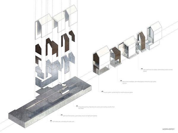 Architectural Design / Boris Morin-Defoy #architecture #drawing