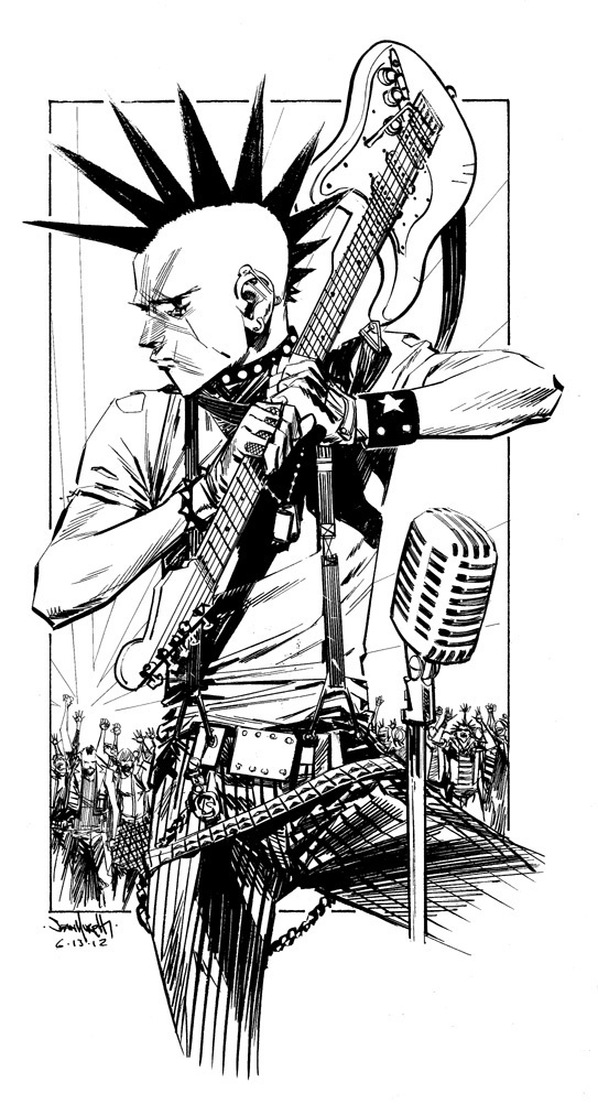PRJ cover 4 preliminary by seangordonmurphy on deviantART #rock #punk #jesus