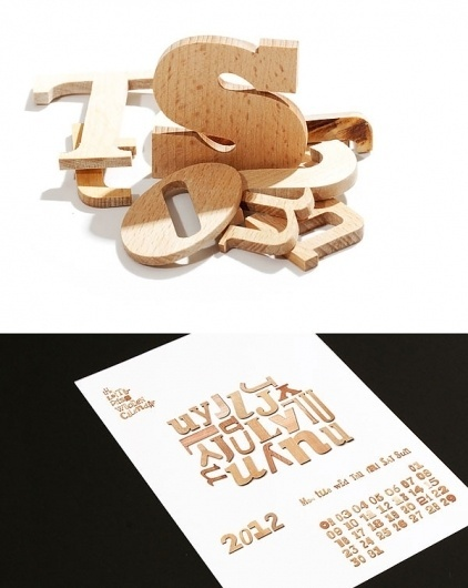 Graphic-ExchanGE - a selection of graphic projects #calendar #letterpress #typography