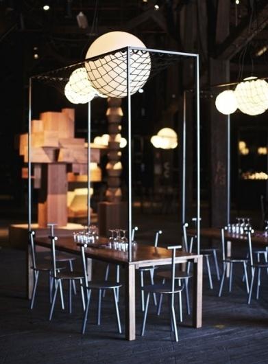 Dezeen » Blog Archive » The Blocks by Studio Toogood #interior #spheres #design #lighting #net