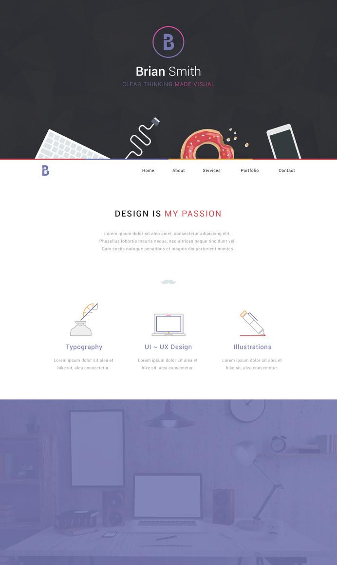 Portfolio Design by Handkraft #flat #ux #portfolio #design #ui #web