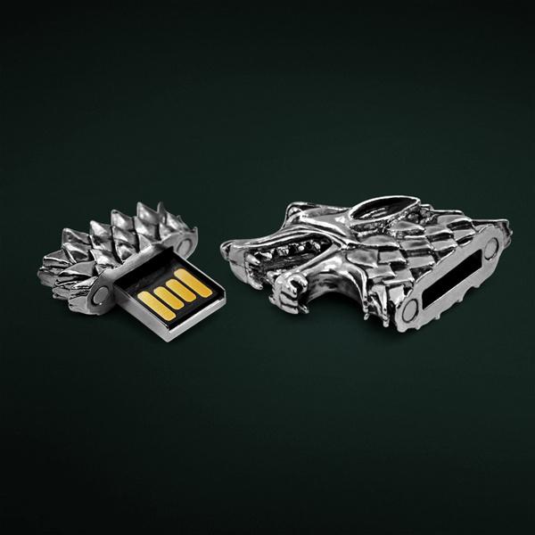 Stark Direwolf USB Flash Drive #tech #flow #gadget #gift #ideas #cool