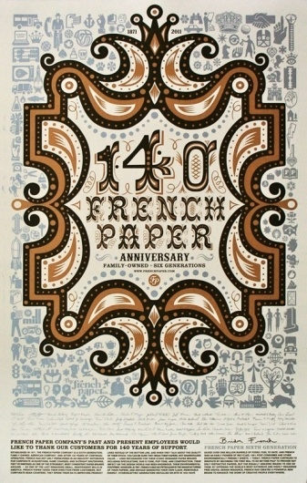 design work life » cataloging inspiration daily #paper #french #poster