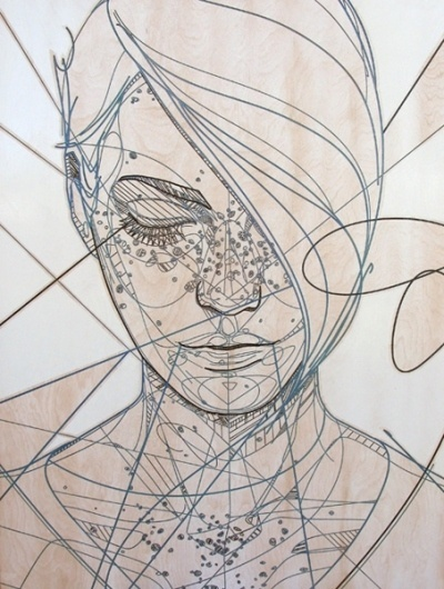Jason Thielke - Art #thielke #girl #jason #laser #etch