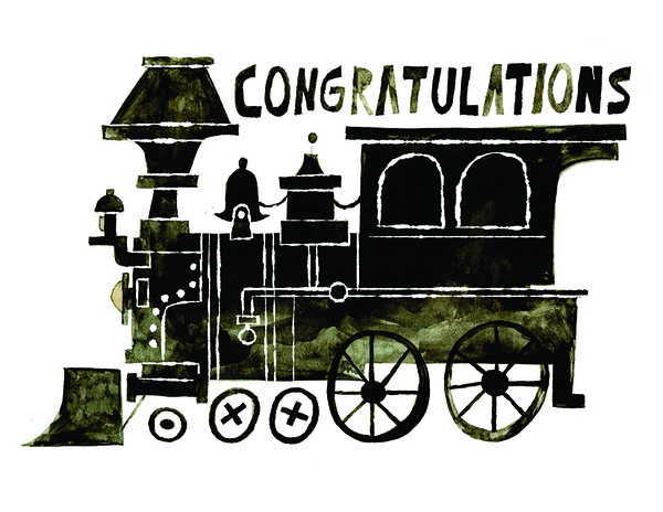 Chris Sasaki #lokomotive #illustration #congratulations #typography
