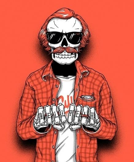Bones brigade on the Behance Network #skull #hell #bones