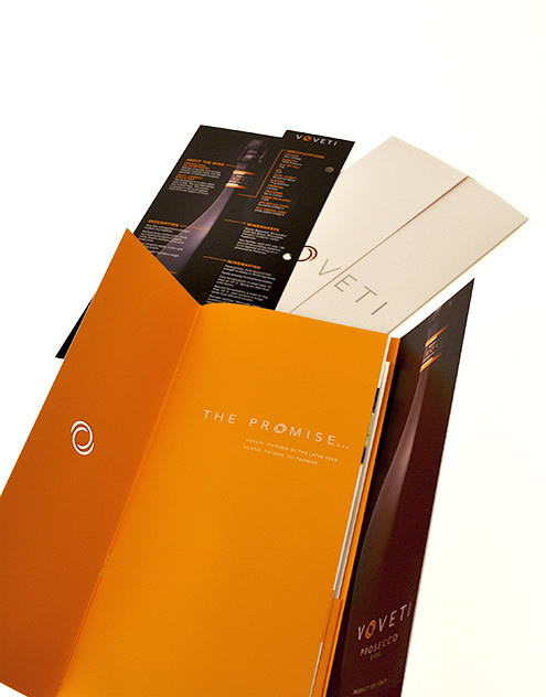 Voveti Wine Freixenet, Spain Brochure Spread 1 Italy #marketing #orange #voveti #brochure