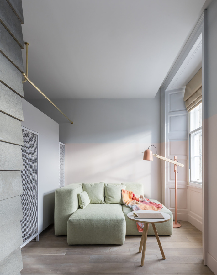 Eden Locke Edinburgh is a minimalist hotel located in Edinburgh, Scotland, designed by Grzywinski+Pons