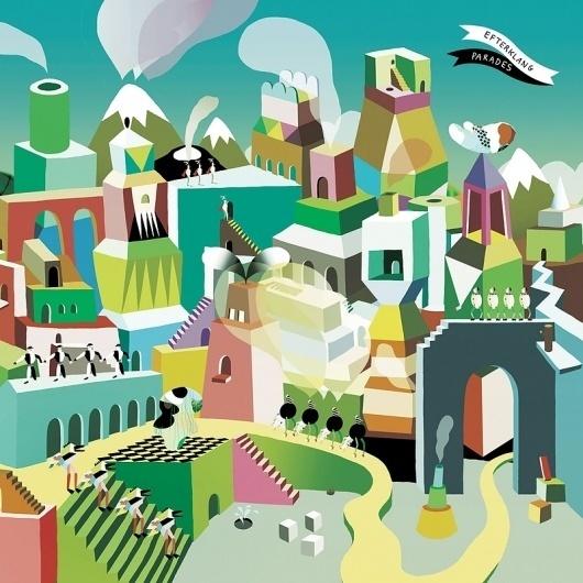 Googles billedresultat for http://tinyways.com/images/efterklang_parades.jpg #efterklang #happiness #cover #illustration #surreal