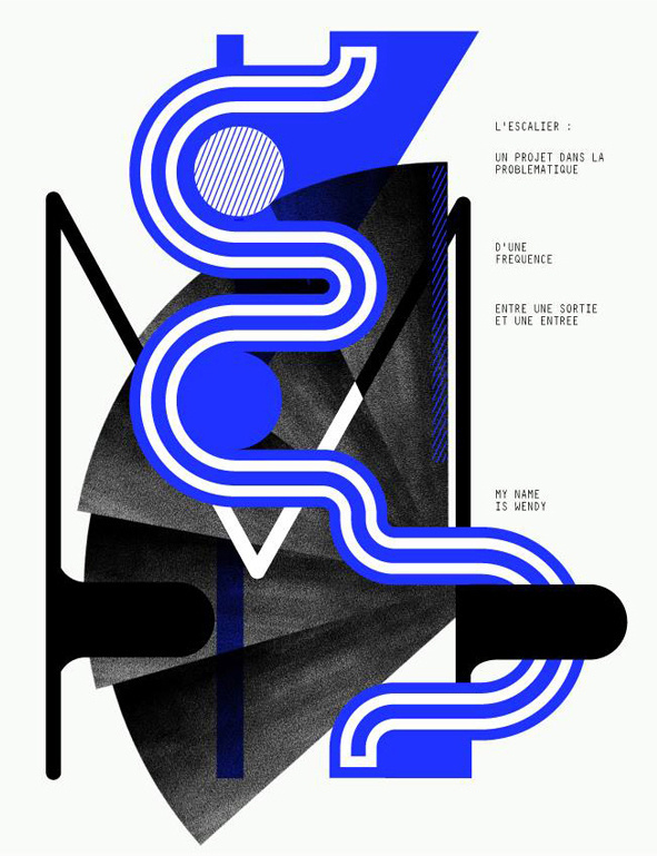 DIMENSION. M : L'escalier on Behance #print #design #graphic #typography