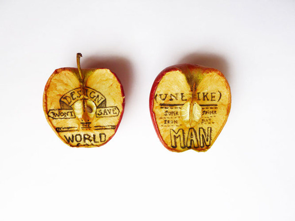 Design won't save the world #apple #lettering #typographie #hand #typo #superman #typography