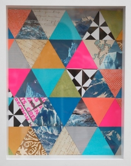 Lisa Congdon : Mixed Media #collage #color #geometric