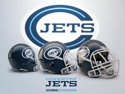 Dribbble - Coventry Jets Rebrand by Fraser Davidson #sport #branding #design #jets #logo #football