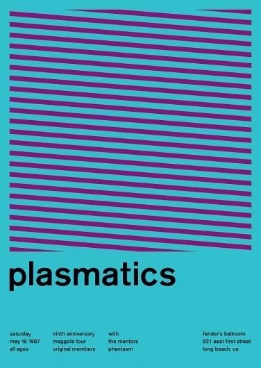 plasmatics at fender's ballroom, 1987 - swissted #poster #swiss #graphics #swissted