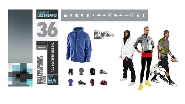 Nike Gear Up on the Behance Network #nike #color #style #board