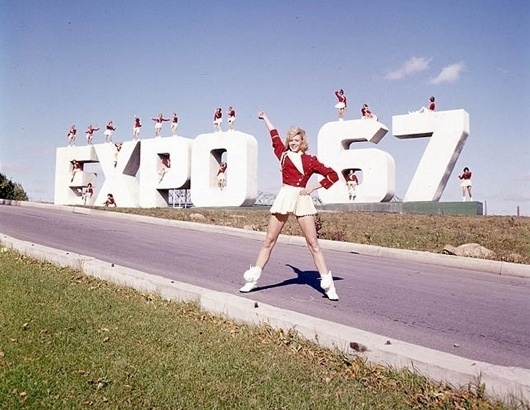 WANKEN - The Blog of Shelby White » Behind the Expo 67 Logo #expo #world #fair #1960s #pavilion #67 #cheerleader