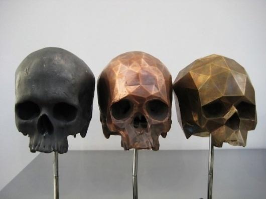 Colossal | art + design #sculpture #skulls #art