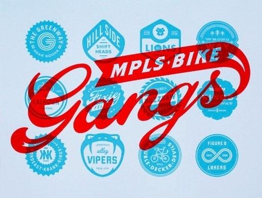 Design Work Life » Allan Peters: Artcrank 2012 #bikes #artcrank #vintage #poster #badges #type