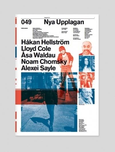 Nya Upplagan | Swiss Legacy #modernism #grid #helvetica #duotone