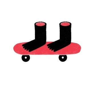 iamjamesbooth #skateboard #screen #illustration #print