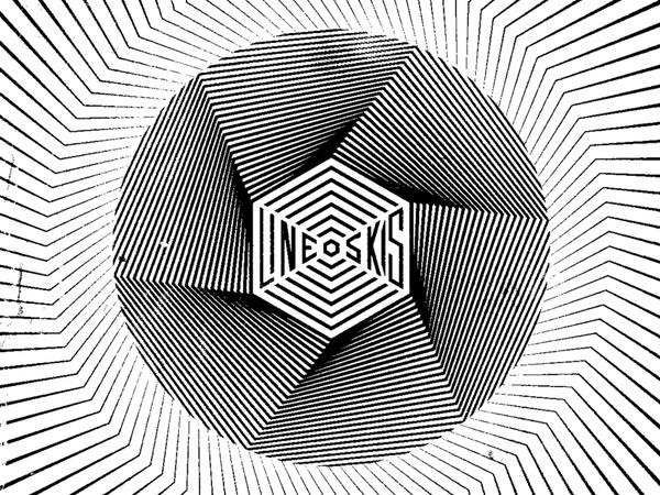 Line Skis #op #line #white #pattern #illusion #opart #icon #black #art #type #typography
