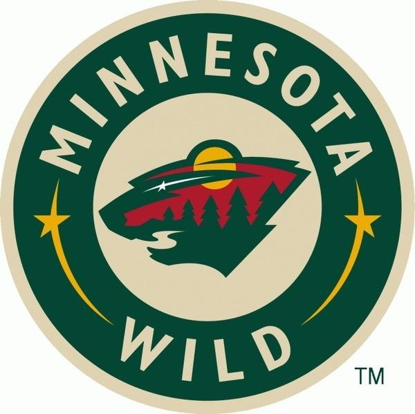 Minnesota Wild Jersey Logo (2004) The head of a black bear created using Minnesota area scenery, green pine trees, a wheat coloured river, #logo #hockey #sports