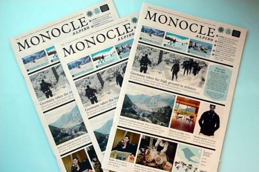The Dapper Dude #monocle #newspaper #magazine