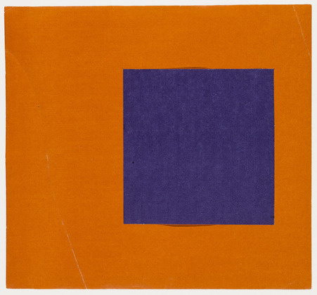 ellsworth kelly, purple and orange, from the series: line-form-color, 1951
