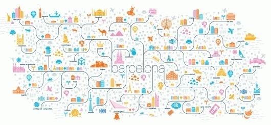 Jan Feliks Kallwejt #design #graphic #map #illustration #barcelona