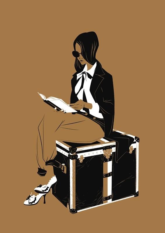 Luggage Matt Taylor Illustration #illustration #vintage