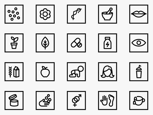Iconography by Bond for Finnish health store PÜR #icon #picto #symbol #sign