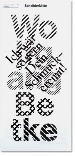 Scheibler Mitte : Studio Laucke Siebein #dutch #leaflet #typography