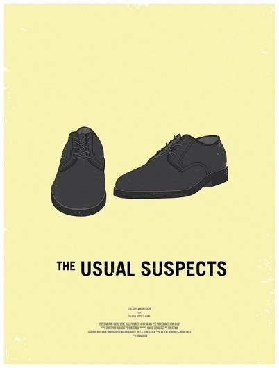 10 Movie Posters Inspired by Men's Style | Everyguyed #suspects #illustration #usual #poster #film